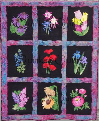 Fab Flowers Full Quilt WM