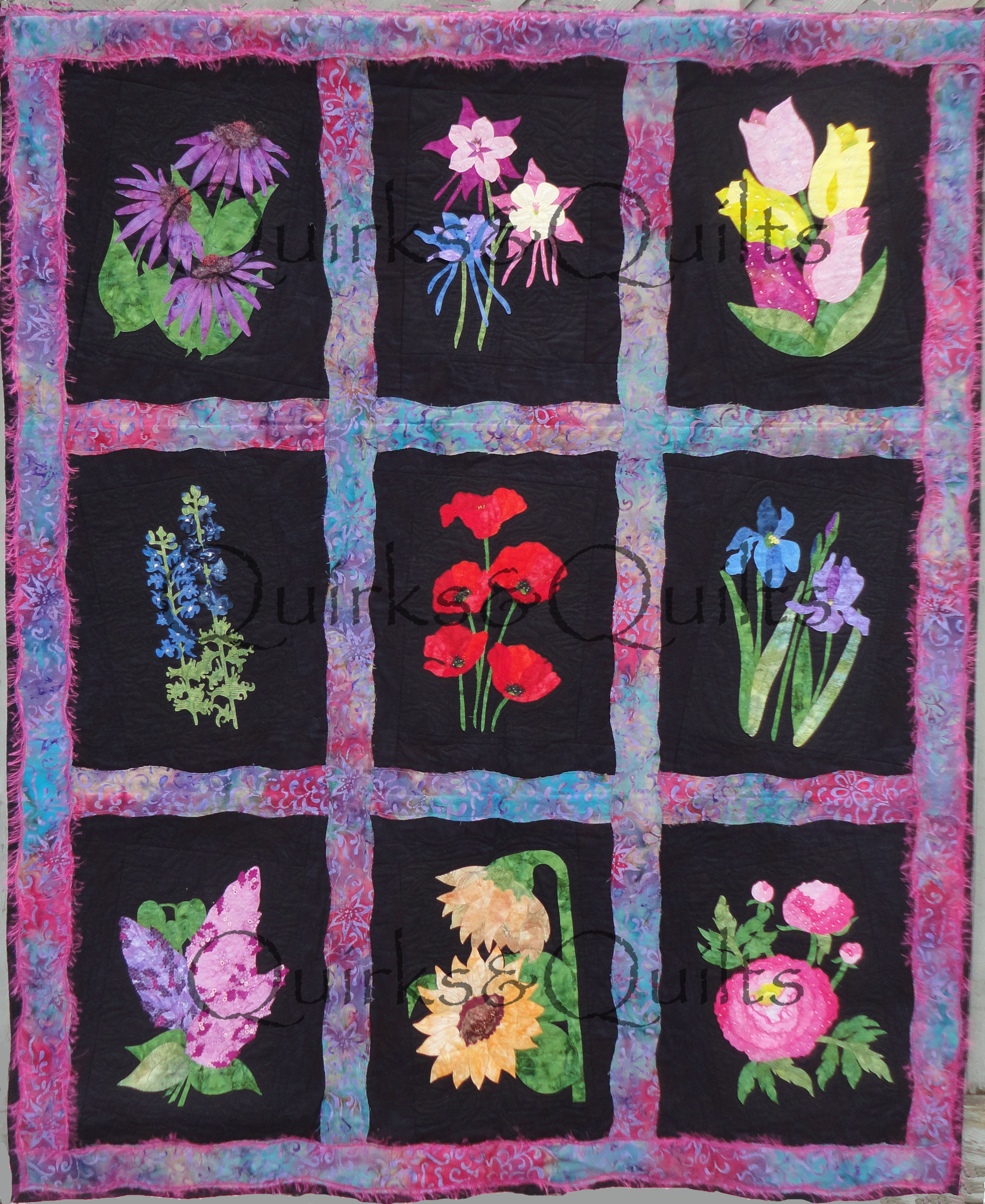 Monthly Calendar Quilt Patterns : Qq fabulous flowers block of the month quirksandquilts